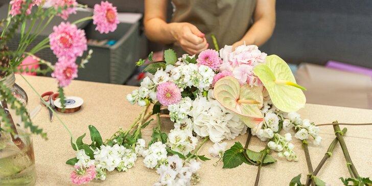 Naučte se vázat krásné květiny: 2hodinový individuální kurz floristiky