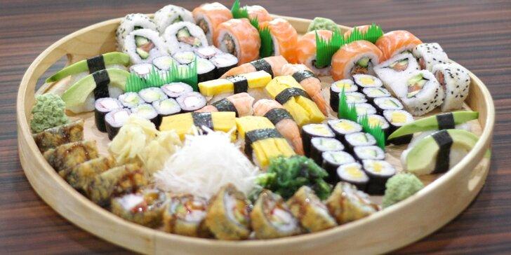 Pochutnejte si: 48 i 70 ks oblíbených sushi rolek s lososem i avokádem