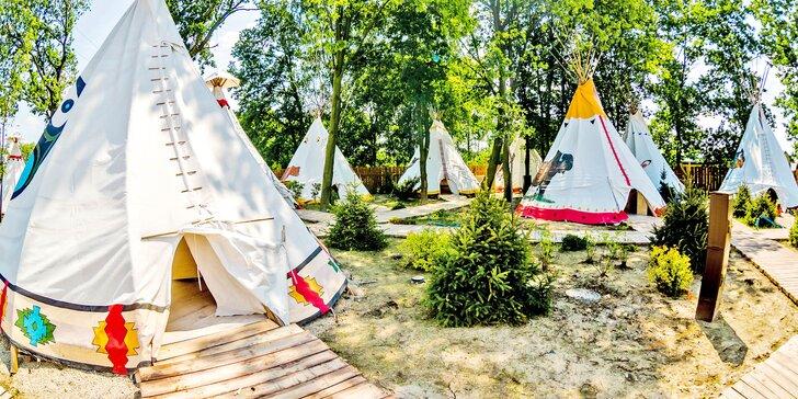 Rodinný pobyt v indiánském stylu s polopenzí a vstupem do Energylandie