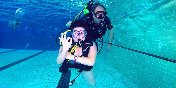 Potápěčem na zkoušku: ponor v bazénu i s videozáznamem pro 1 osobu