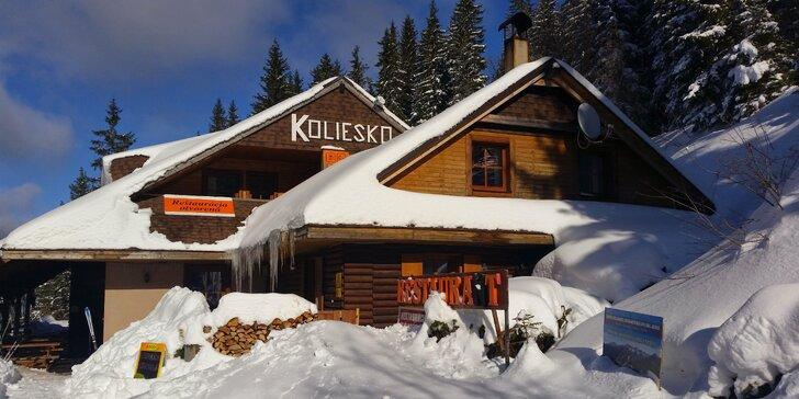 Výjimečný zimní pobyt v horské chatě v Nízkých Tatrách s polopenzí pro dva