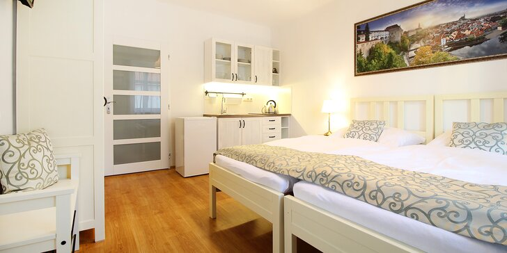 Vyrazte do Krumlova: pobyt ve zbrusu novém apartmánu 5 minut od centra