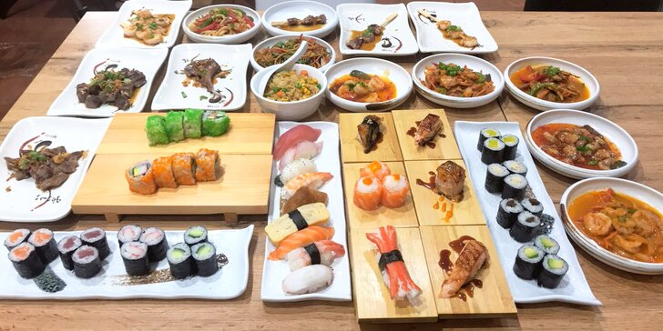 Asijská hostina: sushi and grill all you can eat - Classic, Exclusive i dětské