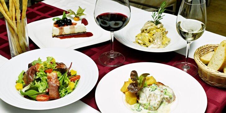 Menu plné italských specialit: 4 lahodné chody v restauraci Il Palazzo pro 2