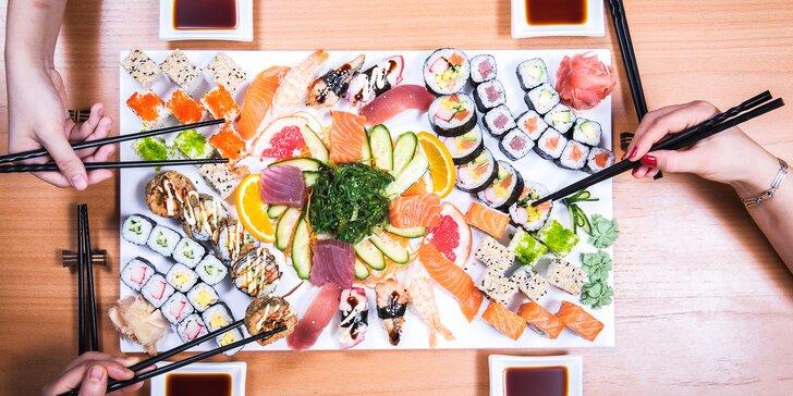 Pochutnejte si na sushi: sety s tuňákem, úhořem i červeným kaviárem