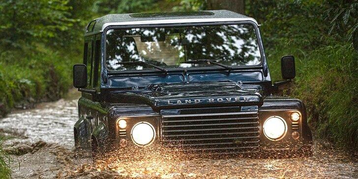 Zážitková offroad jízda: Land Rover a čtyřkolka v Armyparku Ořechov