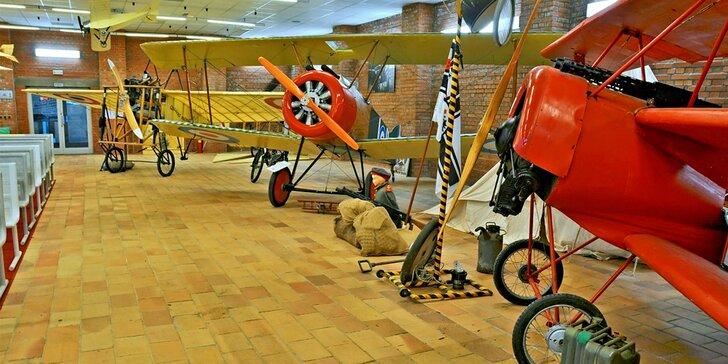 Prohlídka Leteckého muzea Ing. Jana Kašpara s pilotem i let na simulátoru
