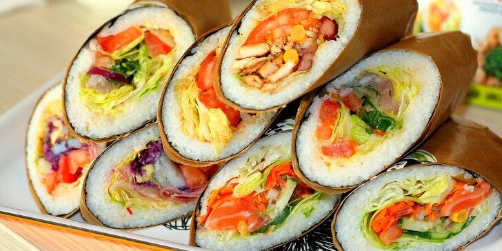 Když Japonsko miluje Mexiko: sushi burrito menu s rybou nebo krevetami