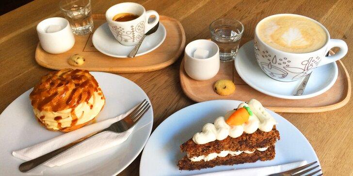 Pohoda u Žižkovské věže: káva a dezert podle výběru pro 1 nebo 2 osoby