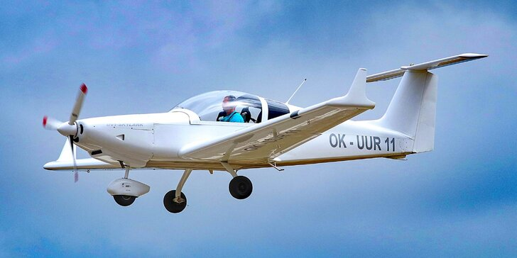 Pilotem na zkoušku: 20–60minutový zážitkový let ve dvoumístném ultralightu