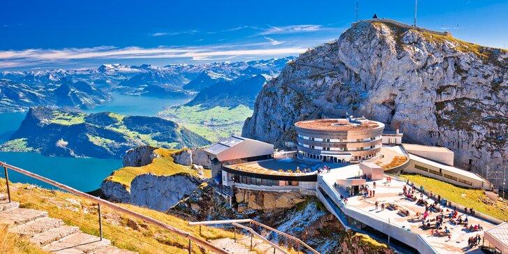 Zájezd do Švýcarska za alpskými panoramaty a nejstrmější zubačkou světa