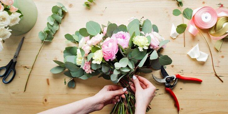 Uvažte si originální kytici: 90minutový floristický workshop
