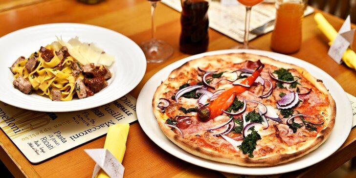 Itálie na Staroměstském náměstí: libovolná pizza nebo těstoviny a nápoj