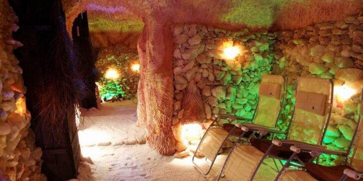 45 minut v solné jeskyni pro 1 nebo pro 2 v centru Plzně