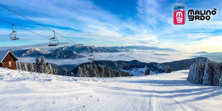 Celodenní skipas do lyžařského střediska Malinô Brdo v pohoří Velká Fatra