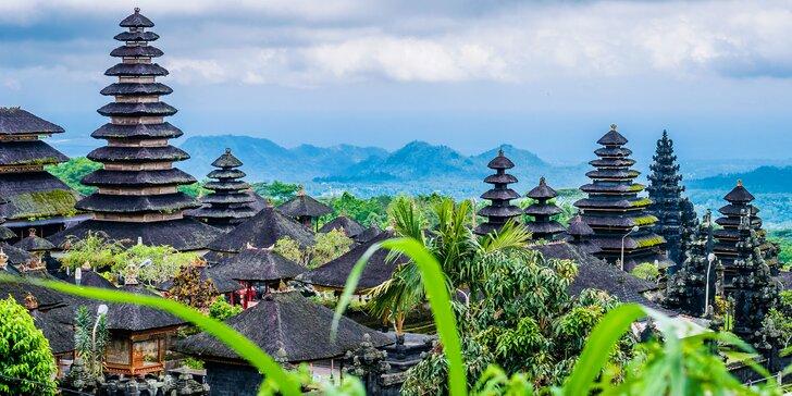 Letní poznávací zájezd na Bali: 12 nocí v 3* a 4* hotelech se snídaní, průvodce