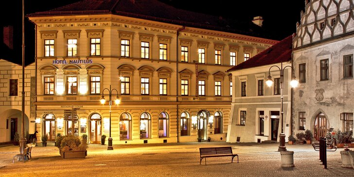 Navštivte město Tábor a užijte si 3 dny v hotelu Nautilus, který stojí přímo na historickém Žižkově náměstí.