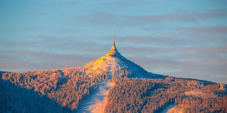 Pobyt v penzionu kousek od Ještědu: polopenze, lyžování nebo výlety