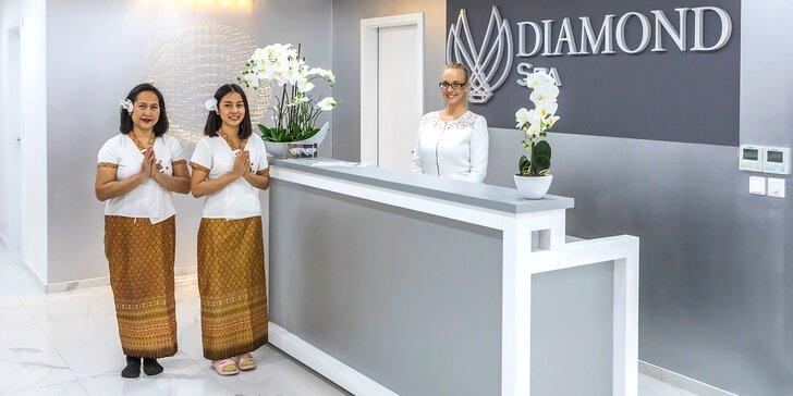 Výběr z thajských masáží, maska na obličej v zbrusu novém salonu Diamond