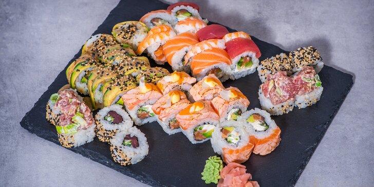 8–24 ks sushi včetně dopravy po celé Praze nebo vyzvednutí na Motole