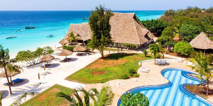 Exotický 4*+ resort na Zanzibaru: 6–12 nocí, all inclusive, sladkovodní bazén