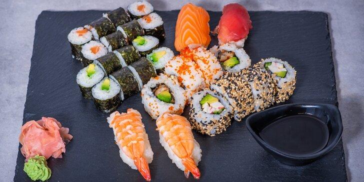 Sushi sety až na váš stůl: 24 - 36 ks s rozvozem po Praze