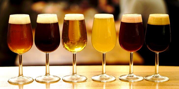 Úvod do světa pivních stylů s výkladem: 9 vzorků a degustační sousto