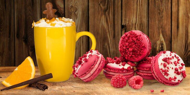 Voňavé Vinohrady: káva a makronka i dort podle výběru pro 1 i 2 osoby