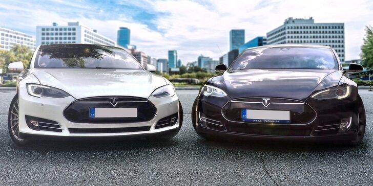 Jízda do budoucnosti v luxusním elektromobilu Tesla Model S nebo Model X