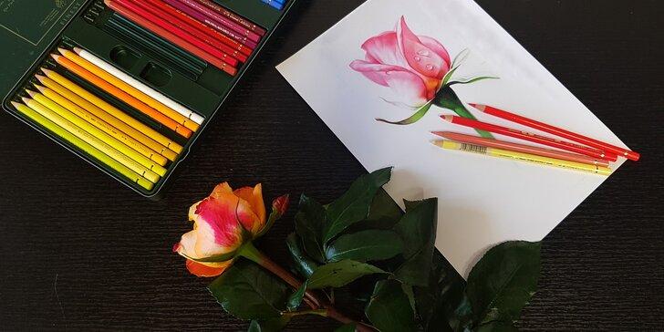 2denní víkendový výtvarný kurz: práce s pastelkami, 18 hodin výuky