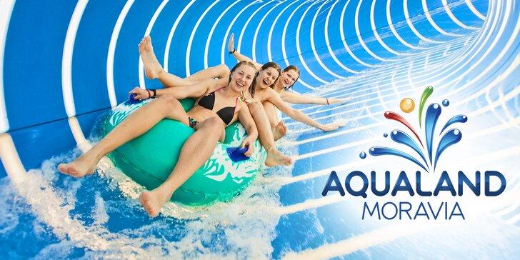 Celodenní vstup do Aqualandu Moravia až pro 3 osoby i solná prohřívárna