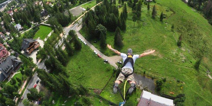 Zažijte něco výjimečného: bungee jumping z 90 m v polském městě Zakopane