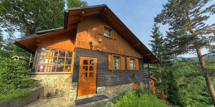 Luxusní odpočinek v moderní wellness chatě v Beskydech pro 6 osob