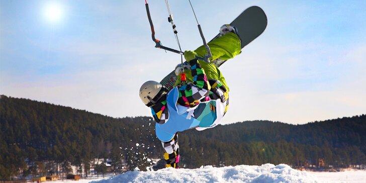 Vítr v zádech: 6hod. kurz landkitingu, kiteboardingu či snowkitingu na Lipně