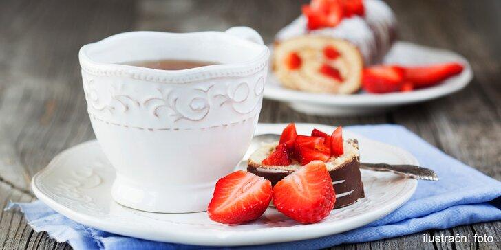 Káva a dort včetně vstupu do zámeckého Průhonického parku pro 1 i 2 os.