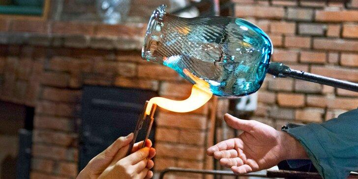 Otevřený voucher na jídlo a foukání skla ve sklářské krčmě pro 1, 2 i rodinu