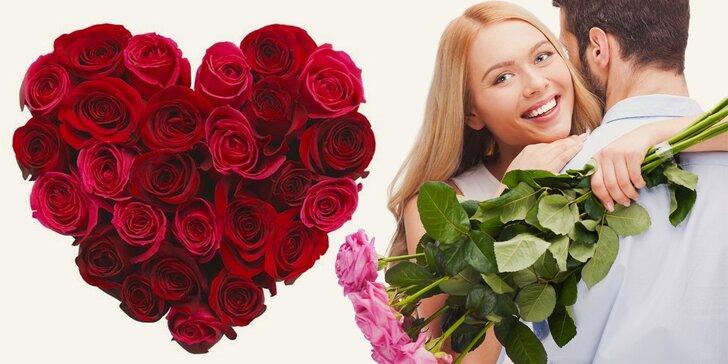 Čerstvé tulipány nebo růže v šesti barvách - darujte jeden, nebo poskládejte pugét