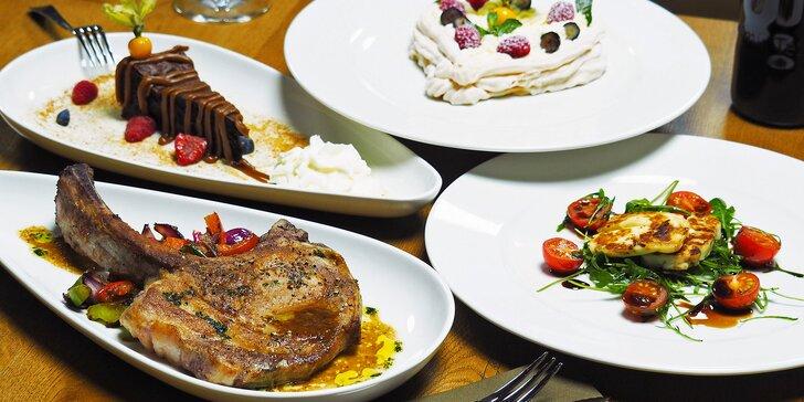 Degustační menu pro dva s kachním prsem nebo vepřovou kotletou