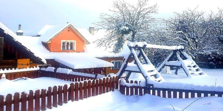 Super zimní dovolená v Beskydech: chalupa s finskou saunou pro 10 osob
