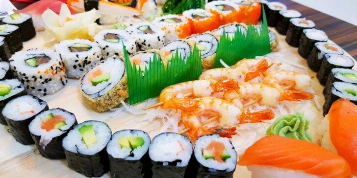 Set ze Sushi Miomi s 46 kousky: tuňák, losos, avokádo i krevety na špejli