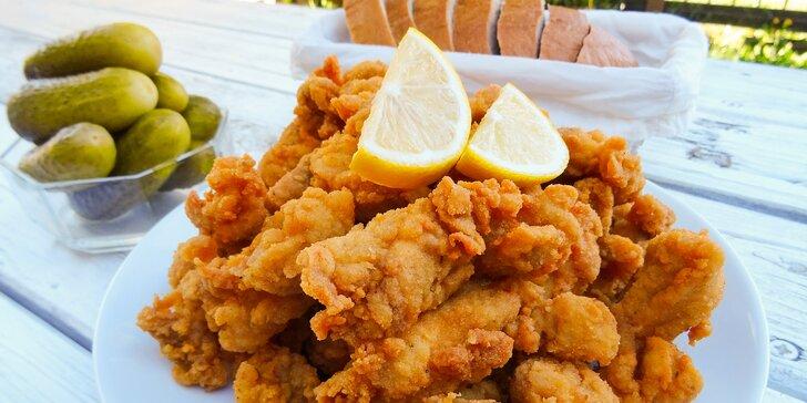 1 kg řízků marinovaných ve smetaně: vepřové, kuřecí nebo mix