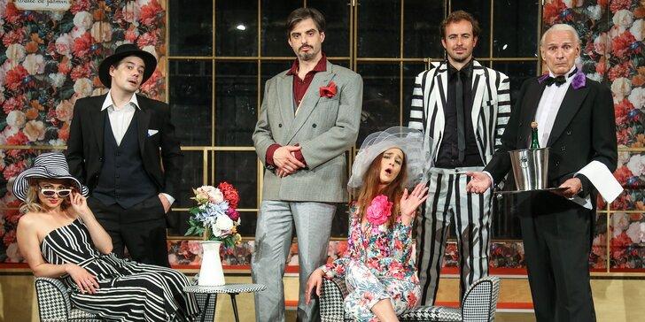 Vstupenka na představení Řádí jako tajfun v Divadle Radka Brzobohatého
