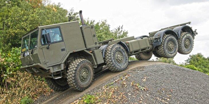 15–60 minut jízdy v kabině giganta Tatra 813 8x8 Truck Trial nebo 815-7