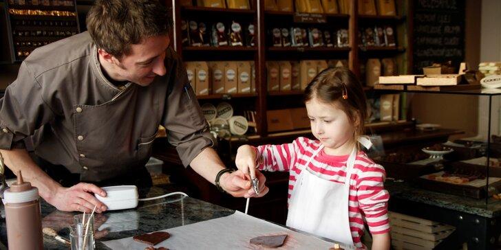 Čokoládová dílna pro děti s doprovodem vč. čokoládové fontány s ovocem