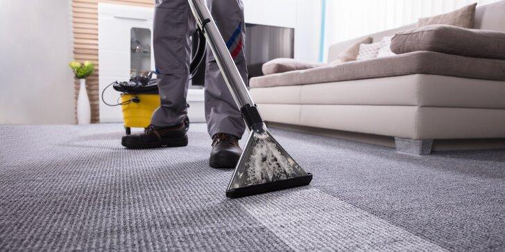 Extrakční čištění koberců mokrou cestou: místnosti od 20 m² do 80 m²