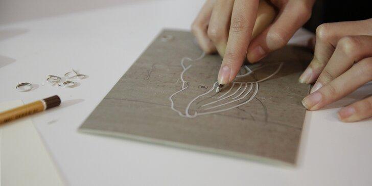 Kurz grafických technik s Juliánou Chomovou v kreativním centru Vzletná