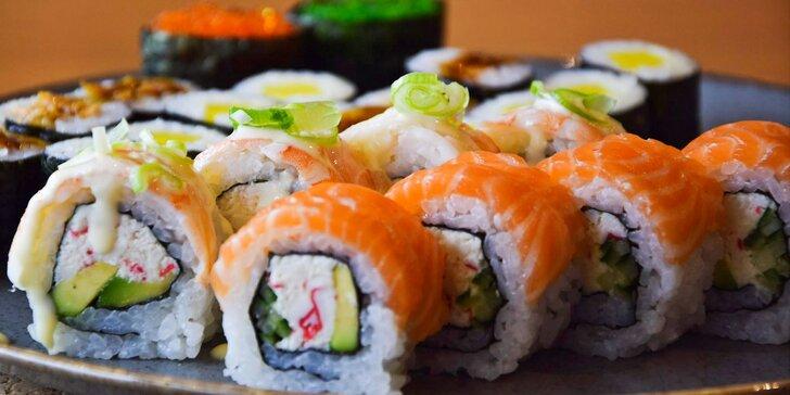 Na sushi do pasáže Alfa: 26 kousků s lososem, ředkví i avokádem