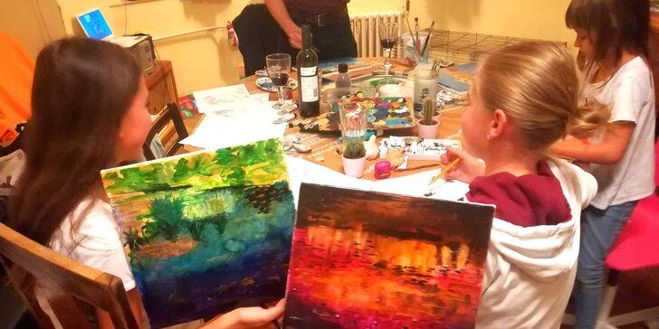 1 lekce či 7týdenní kurz kreslení a tvoření pro děti s profesionálním malířem