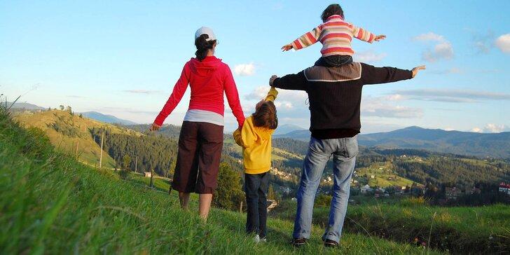 Aktivní dovolená v Beskydech pro rodinu i partu ve stylové chatě s polopenzí