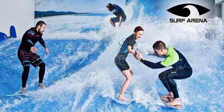 Chyťte vlnu: 3 půlhodinové jízdy na surfovém simulátoru vč. videozáznamu